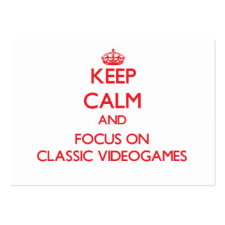 Keep calm and focus on Classic Videogames Large Business Cards (Pack Of 100)