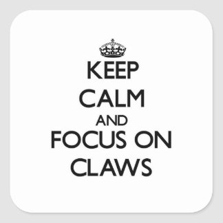 Keep Calm and focus on Claws Square Sticker
