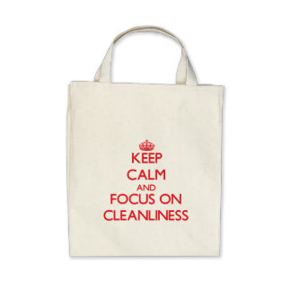 Keep Calm and focus on Cleanliness Canvas Bag