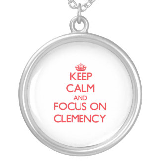Keep Calm and focus on Clemency Necklaces