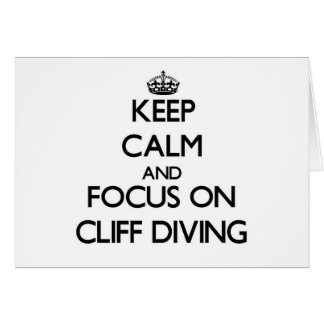 Keep Calm and focus on Cliff Diving Stationery Note Card