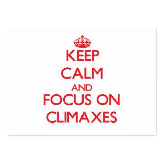 Keep Calm and focus on Climaxes Business Card Template