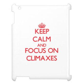 Keep Calm and focus on Climaxes iPad Case