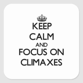 Keep Calm and focus on Climaxes Stickers