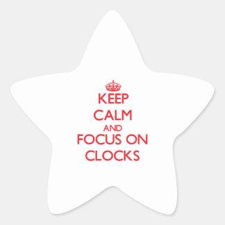 Keep calm and focus on Clocks Star Sticker