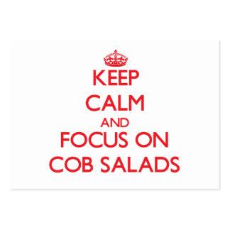 Keep Calm and focus on Cob Salads Business Card Templates