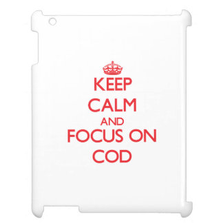 Keep Calm and focus on Cod Case For The iPad 2 3 4