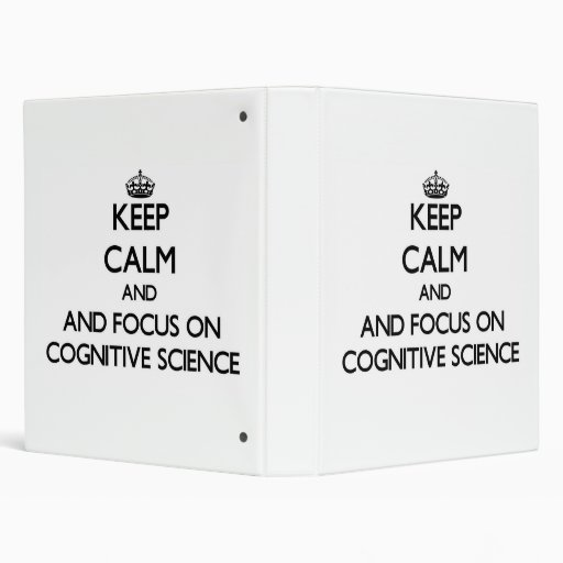 Keep calm and focus on Cognitive Science Binders