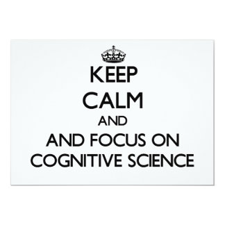 Keep calm and focus on Cognitive Science Custom Announcements