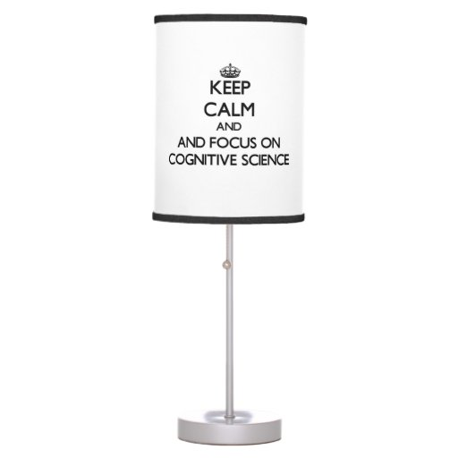 Keep calm and focus on Cognitive Science Lamp