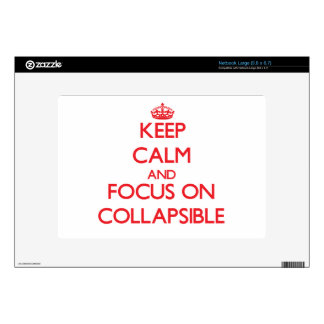 Keep Calm and focus on Collapsible Decals For Netbooks