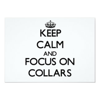 Keep Calm and focus on Collars Announcements