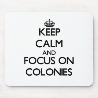 Keep Calm and focus on Colonies Mousepad