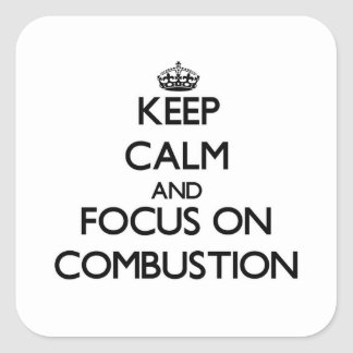 Keep Calm and focus on Combustion Sticker