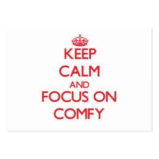 Keep Calm and focus on Comfy Large Business Cards (Pack Of 100)