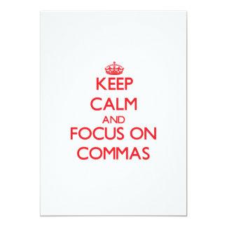 Keep Calm and focus on Commas Card