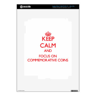 Keep Calm and focus on Commemorative Coins iPad 3 Decals