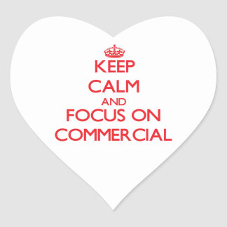 Keep Calm and focus on Commercial Heart Sticker