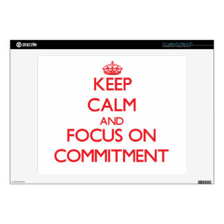 """Keep Calm and focus on Commitment Decal For 14"""" Laptop"""