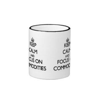 Keep Calm and focus on Commodities Ringer Coffee Mug