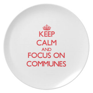 Keep Calm and focus on Communes Plate