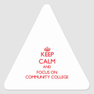 Keep Calm and focus on Community College Triangle Sticker