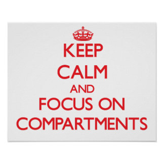 Keep Calm and focus on Compartments Poster