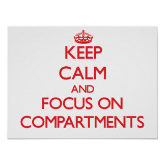 Keep Calm and focus on Compartments Print