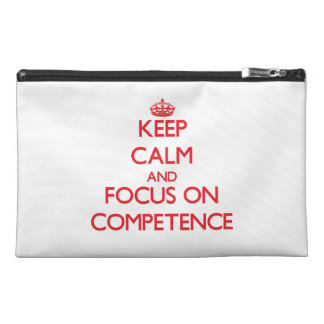 Keep Calm and focus on Competence Travel Accessory Bags