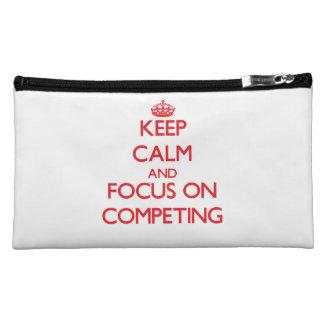 Keep Calm and focus on Competing Makeup Bag