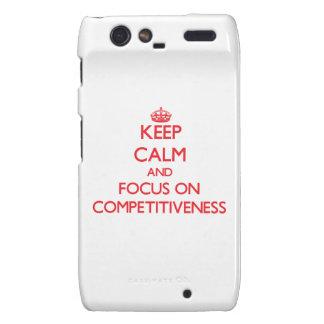 Keep Calm and focus on Competitiveness Motorola Droid RAZR Case