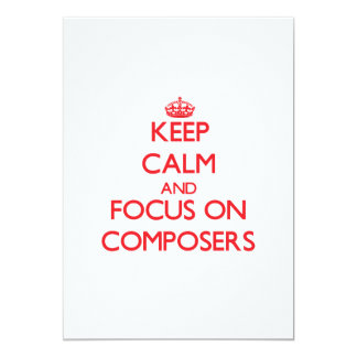 Keep Calm and focus on Composers Announcements