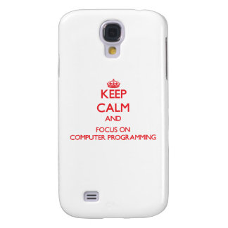 Keep calm and focus on Computer Programming HTC Vivid / Raider 4G Cover