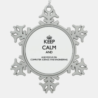 Keep calm and focus on Computer Science And Engine Ornament