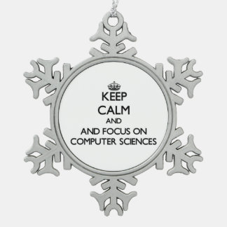 Keep calm and focus on Computer Sciences Ornament