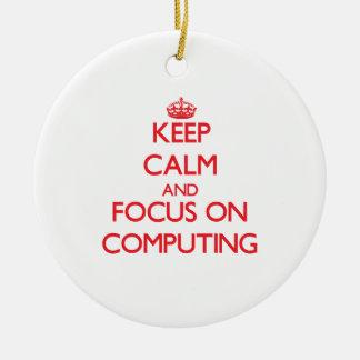 Keep Calm and focus on Computing Christmas Tree Ornaments