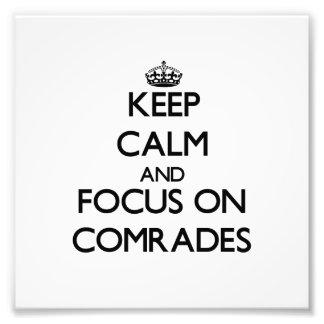 Keep Calm and focus on Comrades Photo Print