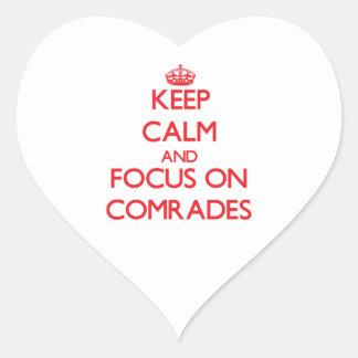 Keep Calm and focus on Comrades Sticker