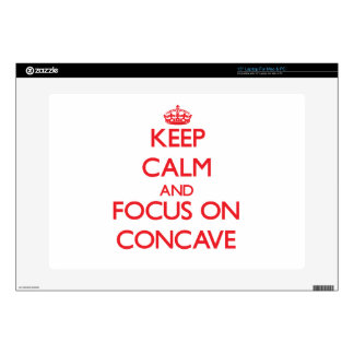 Keep Calm and focus on Concave Laptop Skin
