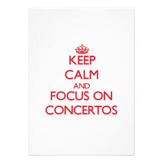 Keep Calm and focus on Concertos Custom Invites