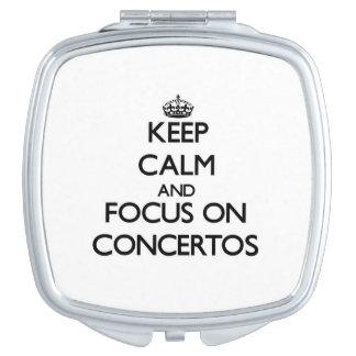 Keep Calm and focus on Concertos Makeup Mirror