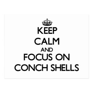 Keep Calm and focus on Conch Shells Postcard
