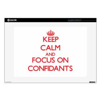 Keep Calm and focus on Confidants Laptop Skin