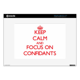 Keep Calm and focus on Confidants Large Netbook Skins