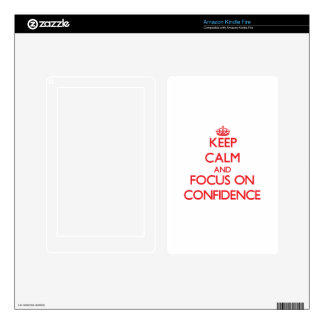 Keep Calm and focus on Confidence Skins For Kindle Fire