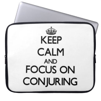 Keep Calm and focus on Conjuring Laptop Sleeve