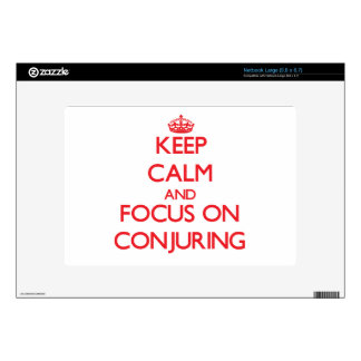 Keep Calm and focus on Conjuring Large Netbook Decals