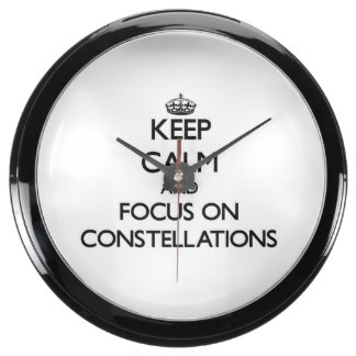 Keep Calm and focus on Constellations Aquavista Clock