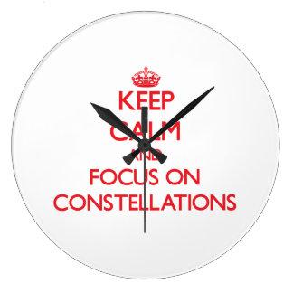 Keep Calm and focus on Constellations Wallclocks