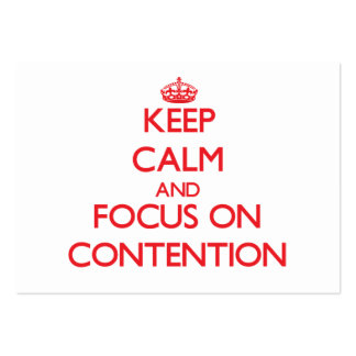 Keep Calm and focus on Contention Business Card